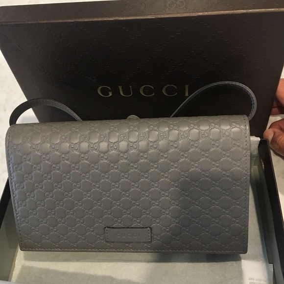 565aa829506e Leather Micro GG Guccissima Crossbody Mini Purse. NWT. Gucci
